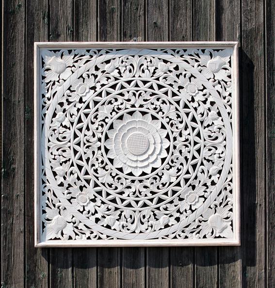 wandpaneel wit 80 x 80 cm