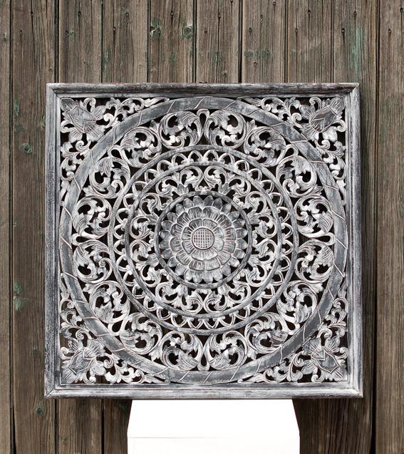 Wandpaneel zwart 80 x 80 cm