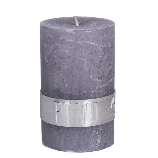 Kaars suede grey 8x5cm