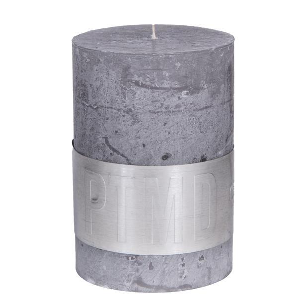 Kaars suede grey 10x7cm
