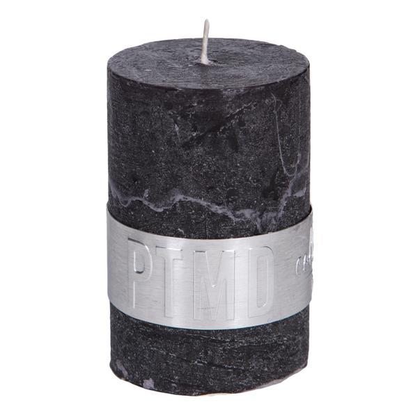 Kaars charcoal black 6x4cm
