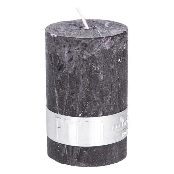 Kaars charcoal black 8x5cm