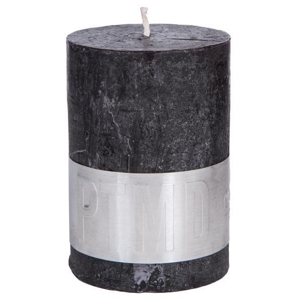 Kaars charcoal black 10x7cm
