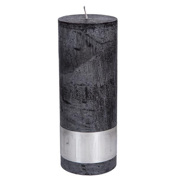 Kaars charcoal black 18x7cm