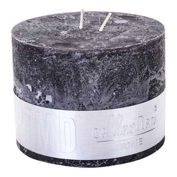 Kaars charcoal black 9x12cm
