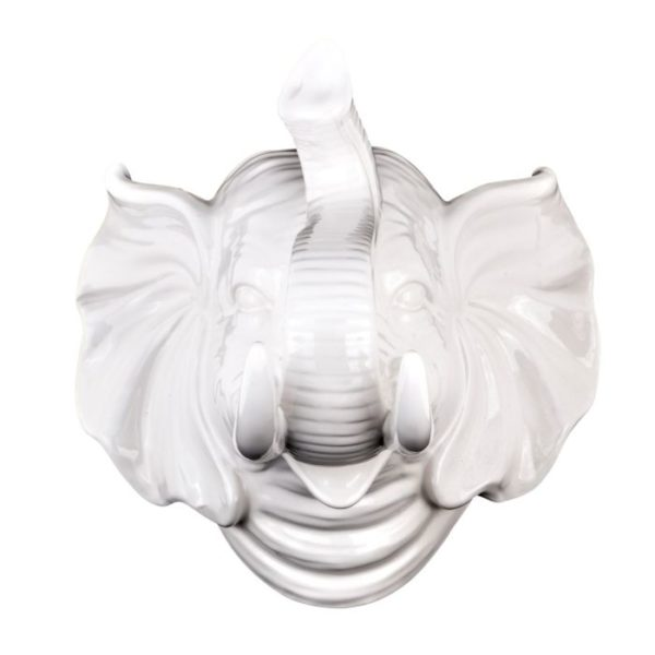 Elephant Dulce Ceramic White