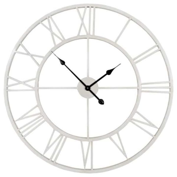 Clock Laiza, White