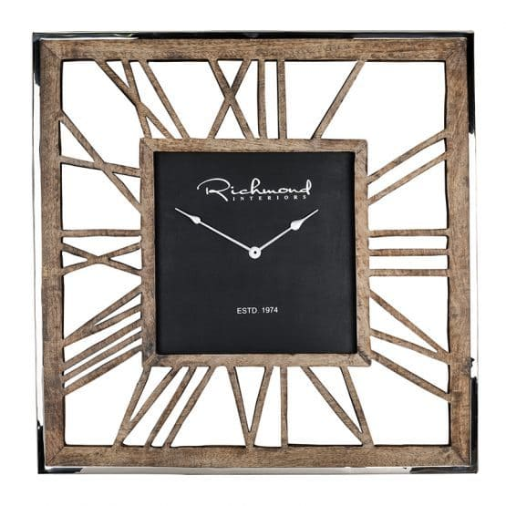 Clock Everson metal square