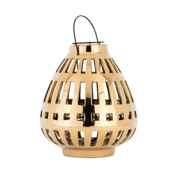 Lantern Paris Ceramic Gold