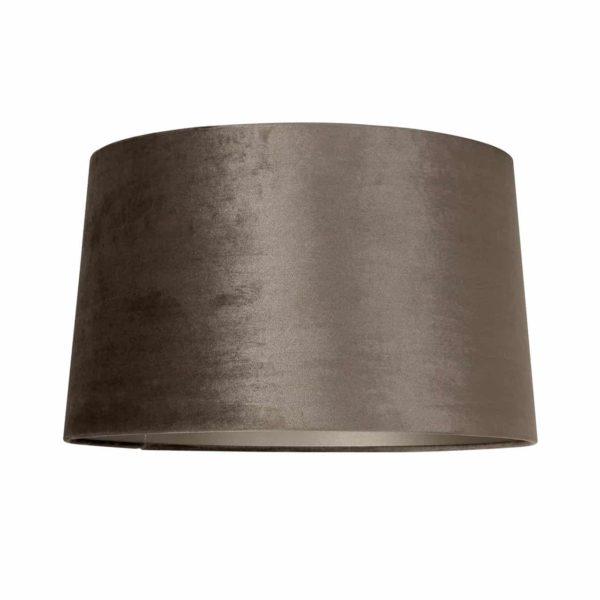 Lampshade Jaylinn, velvet taupe Large